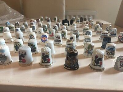 Massive Job Lot Of Vintage Thimbles