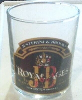 "Awesome Vintage ""royal Ages J & B"" Glass!! Tumbler J&b"