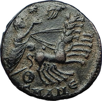 CONSTANTINE I the Great CHARIOT to GOD HAND in HEAVEN Ancient Roman Coin i70318