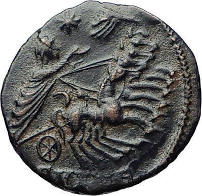 CONSTANTINE I the Great CHARIOT to GOD HAND in HEAVEN Ancient Roman Coin i70319