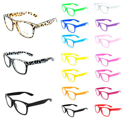 Eyeglasses 17 Color Frame Glasses Plain Mirror Eyeglass Frame Clear Len