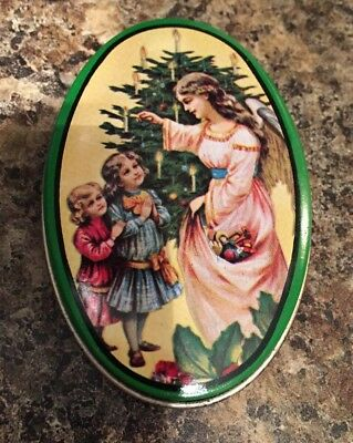 Vintage Collector 1983 Small Candy Tin - Christmas Small World Greetings