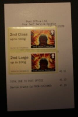 2nd Class printed on 1st Game of Thrones Error Post & Go - Collectors Pair - NCR