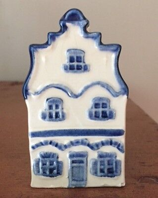 Vintage NUMBER 1 BLUE DELFT HOUSE KLM Original RYNBENDE DISTILLERIES HOLLAND