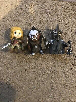 Funko Mystery Minis Lord Of The Rings Hot Topic Exclusive Lurtz,Eowyn,Witch King