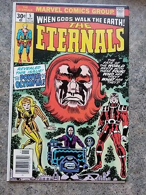 ETERNALS #5, Jack Kirby, Power of Olympia, 1976