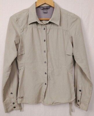 Outdoor Research Womens S vented hiking shirt OR UPF 50 travel long sleeve