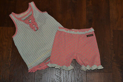 Matilda Jane Happy and Free Fresh Air Tank and Poolside Shorties Outfit Szie 6