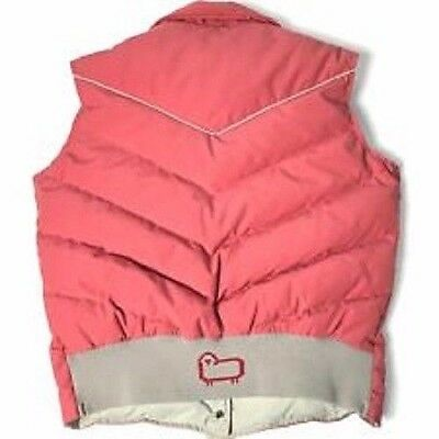 Woolrich Women's Salmon Pink Feather Quilted Down Puffy Vest Size Medium (8-10)