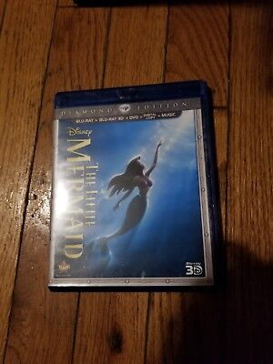 The Little Mermaid 3D (Blu-ray/DVD, 2013, 3-Disc Set, Diamond Edition