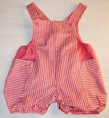 Vintage Absorba Girls Bubble Romper Pink Striped Overall Size 24 Months