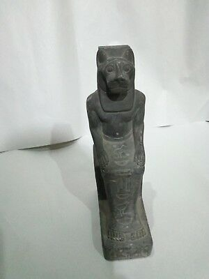 ANTIQUE EGYPTIAN LIONESS GODDESS Sekhmet Statue Figure Figurine 1403–1365 Bc