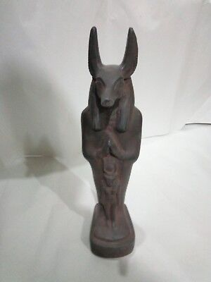 ANTIQUE ANCIENT EGYPTIAN GOD Anubis Hold Isis Statue 3120-2890 Bc