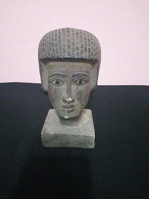 RARE ANTIQUE ANCIENT EGYPTIAN Stone of Statue King Seti Ii Head 1200-1194 Bc