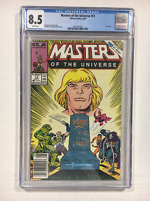 Masters of the Universe #13 CGC 8.5 white Marvel comics 1988 Last issue