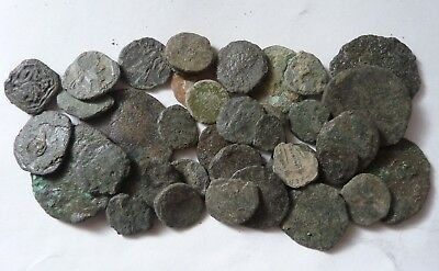 LOT OF UNCLEANED ANCIENT ROMAN COINS from the NETHERLANDS