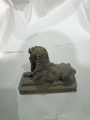 ANCIENT EGYPTIAN STATUE PHARAOH Sphinx Pyramid 1400 Bc