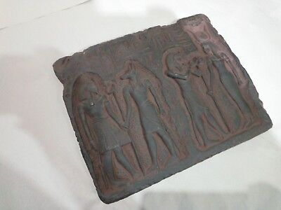 RARE ANCIENT ANTIQUE EGYPTIAN Stela Osiris and Anubis and Tutankhamun 2023 Bc