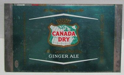 Vintage Canada Dry Ginger Ale Can , unrolled flat can