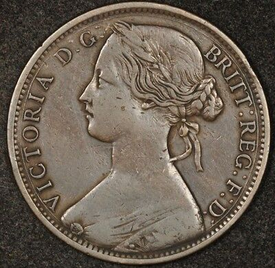 1862 Great Britain Penny Nice Details