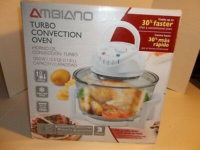 New Ambiano Turbo Convection Oven 1200w 12.5Qt