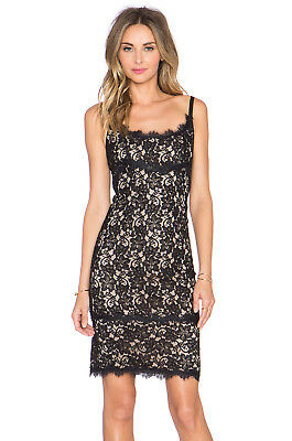053a0b040f12 BNWT DVF DIANE von FURSTENBERG Olivia Sleeveless Lace Sheath Dress Black 2  428