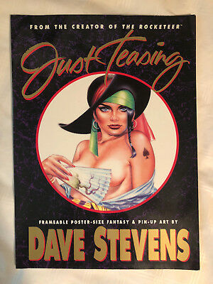 Just Teasing 16 Poster-Size Pin-Up Art Prints by Dave Stevens (Rocketeer) 1991