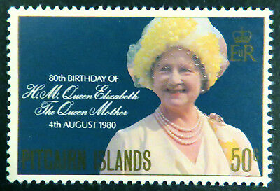 1980 Pitcairn Islands Decimal Stamps - Queen Mothers 80th Birthday - Single MNH