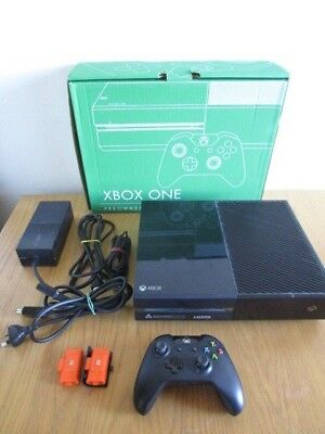 Microsoft Xbox One Black 500 GB Console Xb1 Controller Boxed Battery Xbox One