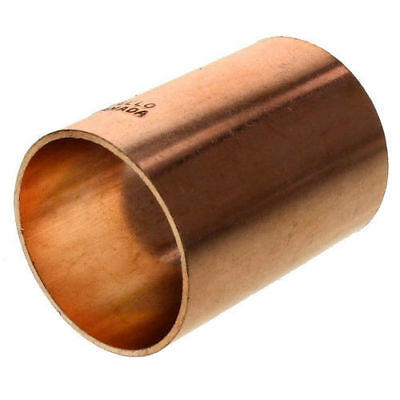 """1-1/4"""" inch Copper Solder Coupling with Stop Sweat  PACK OF 9 - FREE SHIPPING"""