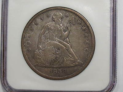 1859-O New Orleans Seated Liberty Dollar NGC XF45 Extra Fine