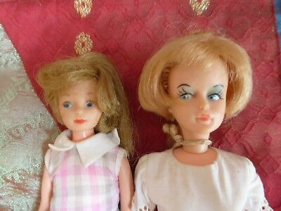 VINTAGE 1960's CRICKET 9 inch + TRESSY  DOLLS  AMERICAN CHARACTER
