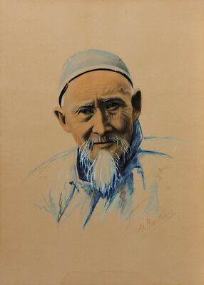 G. Yasheb - Early 20th Century Mixed Media, Asian Gentleman