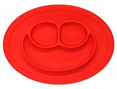 Silicone Placemat for Baby Bowl Tray Smiley Face Round Non Slip Plate Dish Food