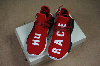 608cae2a2 Authentic Size 10.5 Sneakers Adidas Nmd Hu Pharrell Human Race Scarlet  Bb0616