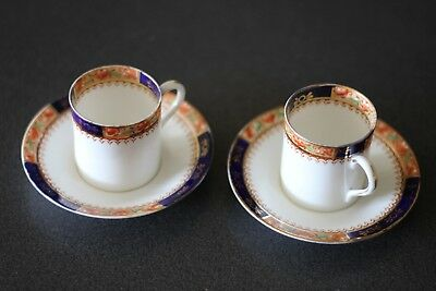 set of 2 small satsuma antique porcelain cups and saucers gold guild