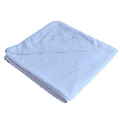 Organic Bamboo Hooded Towel in Light Blue