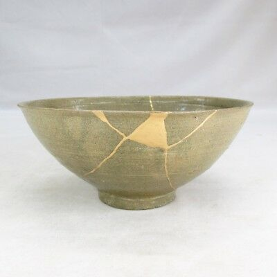 D047: Korean bowl as KASHIKI of real old blue porcelain of Goryeo Dynasty