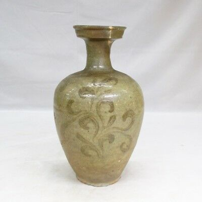 D049: Korean vase of old blue porcelain of Goryeo Dynasty with pattern E-GORAI