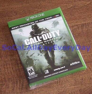 Call of Duty 4: Modern Warfare Remastered (Xbox 1 One) BRAND NEW & SEALED!!! xb1