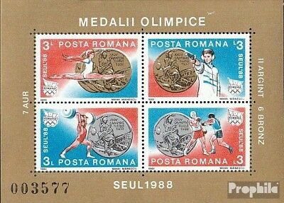 Romania block250 unmounted mint / never hinged 1988 Medalists Olympia