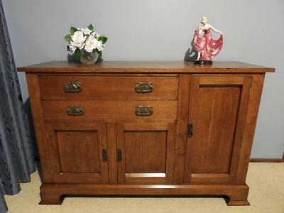 Arts And Crafts Art Deco Sideboard Buffet Dresser Hall Table Cabinet Tv Stand