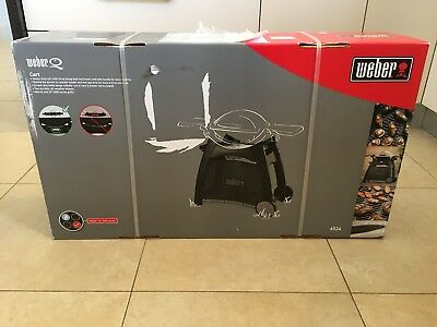 Weber Q Patio Cart. New in box unused. Suits Weber Q 2000 /2200 AU and Family Q