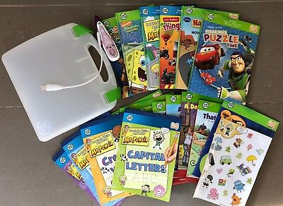 Leapfrog Tag Reader with 17 books/activity books and carry case, barely used
