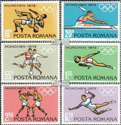 Romania 3012-3017 unmounted mint / never hinged 1972 olympic. Games `72, Munich