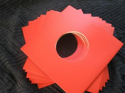 """50 X 7"""" Red Card Record Masterbags Sleeves / Covers *New*"""