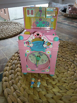 Polly Pocket Bluebird Uhr / Standuhr