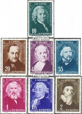 Romania 1709-1715 unmounted mint / never hinged 1958 Culture Series