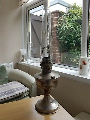 vintage super Aladdin oil lamp with chimney
