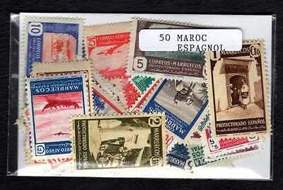 Morocco Spanish - Spanish Morocco 50 stamps different